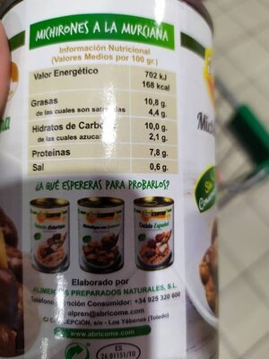 Michirones a la murciana - Nutrition facts