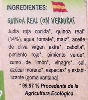 Quinoa Real con verduras - Ingrédients - es