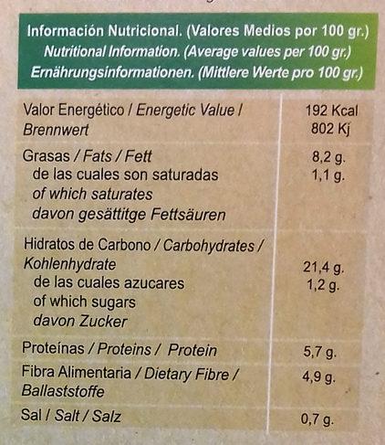 Quinoa Real con verduras - Informations nutritionnelles - es