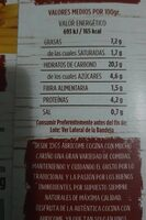 Macarrones con tomate - Nutrition facts - es