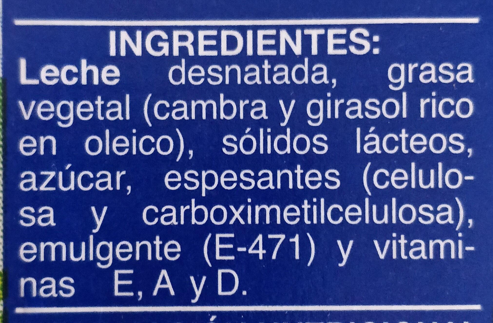 Producto lácteo - Ingrediënten - es