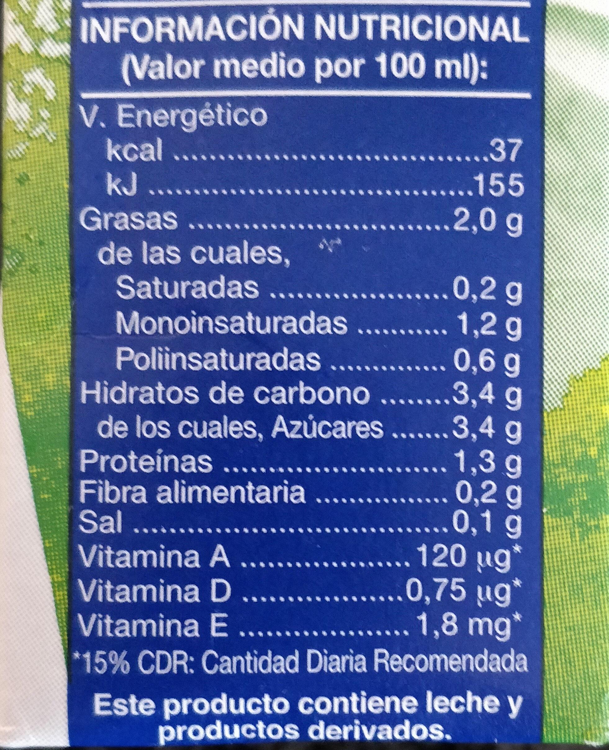 Producto lácteo - Informació nutricional