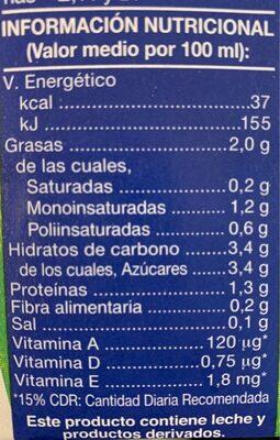 Producto lácteo - Voedingswaarden - es