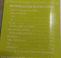 Néctar de manzana MI - Nutrition facts