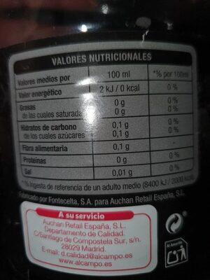 Cola Zero - Voedingswaarden - es