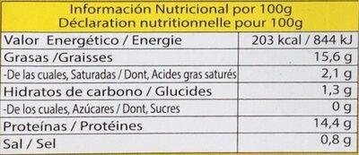 Moules à L'escabèche - Nutrition facts - fr