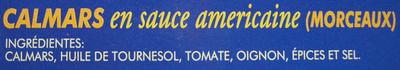 Calamares en salsa americana - Ingrédients - fr