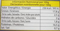 Calamares en salsa americana - Informations nutritionnelles - fr