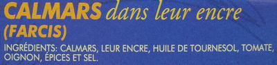 Calamares en su tinta - chipirones - Ingrédients - fr