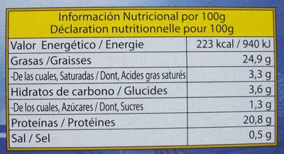 Calamares en su tinta - chipirones - Informations nutritionnelles - fr