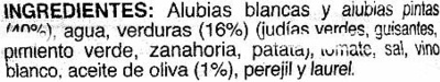 Alubias con verduras - Ingredients