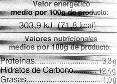 Alubias con verduras - Informations nutritionnelles