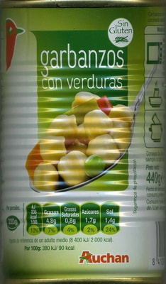 Garbanzos con verduras - Product - es