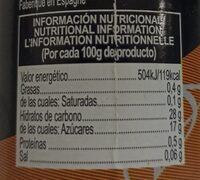 Crema balsámica de vinagre.aroma trufa - Nutrition facts - es