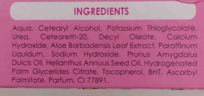 crema depilatoria facial - Ingredients - en