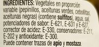 Pickles cocktail - Ingredients - es