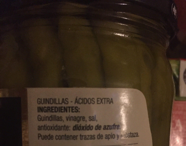Guindillas piparras no picantes frasco 120 g - Ingrédients - fr
