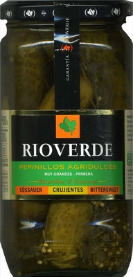 "Pepinillos encurtidos ""Rioverde"" Agridulces - Producto"