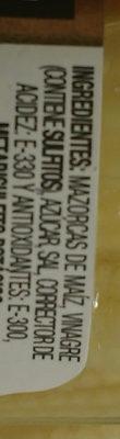 Mazorquitas de maiz - Ingredientes
