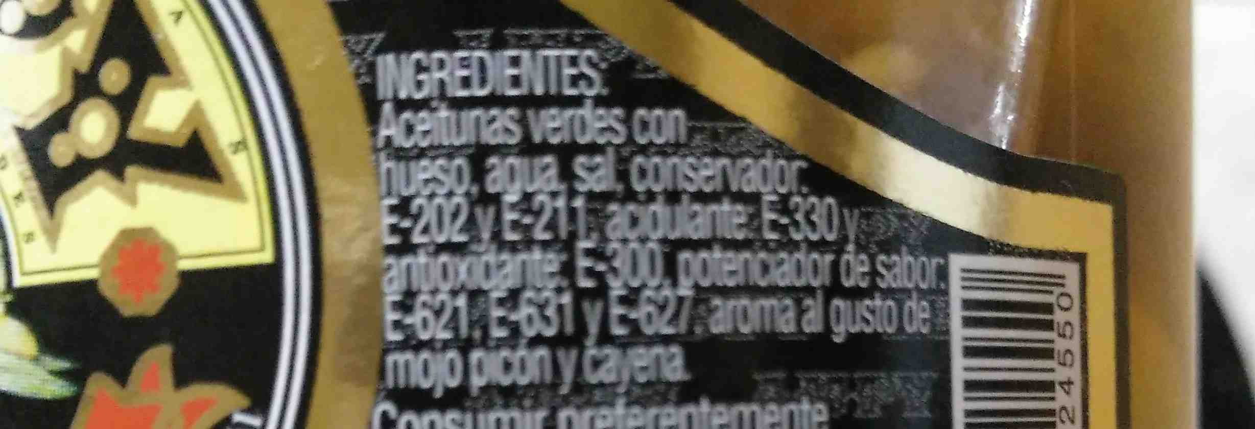 Aceitunas - Ingredientes - es