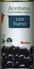 """Aceitunas negras enteras """"Auchan"""" Variedad Cacereña - Producto"""