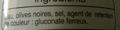 Aceitunas cacereñas negras sin hueso - Ingrédients - fr