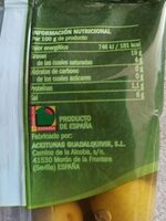 Olivas verdes con hueso - Informations nutritionnelles - es