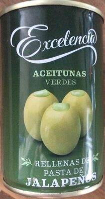 Aceitunas verdes rellenas de jalapeños - Produit