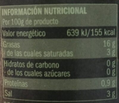 Acetuna sabor anchoa - Informations nutritionnelles