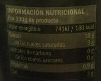Olives vertes - Informations nutritionnelles - es