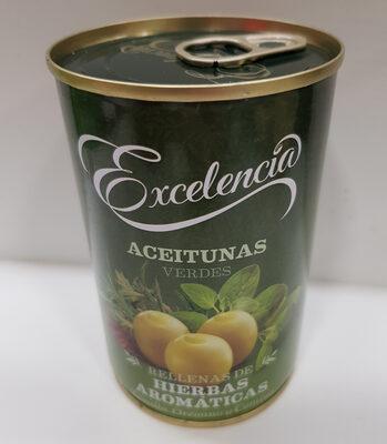 Aceitunas verdes rellenas de hierbas aromáticas - Producto