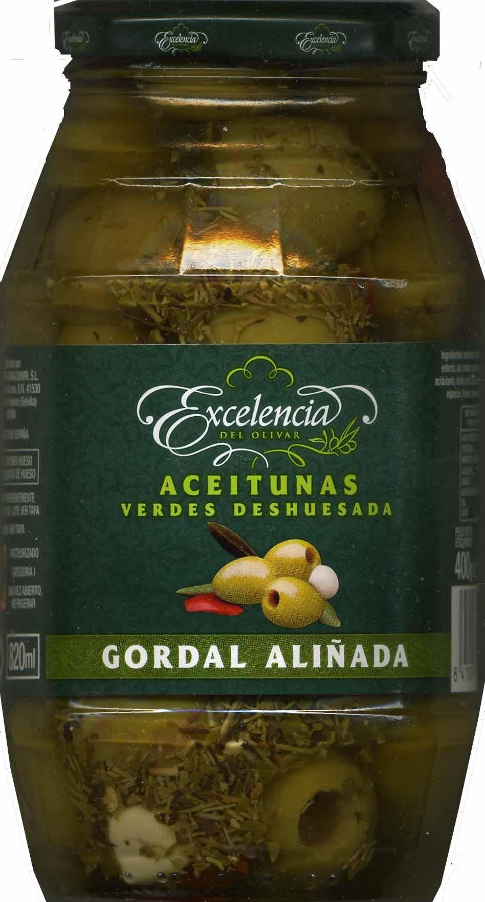 "Aceitunas verdes deshuesadas aliñadas ""Excelencia del Olivar"" Variedad Gordal - Product"
