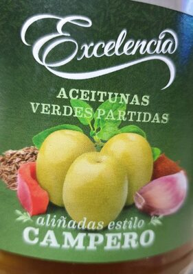 Aceitunas verdes partidas estilo campero - Produit