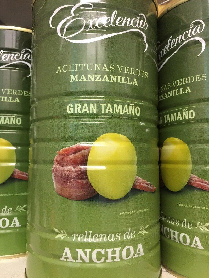 Aceitunas verdes manzanilla con anchoa Excelencia - Product - es