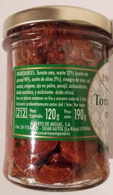Tomate seco en aceite - Ingredientes - es