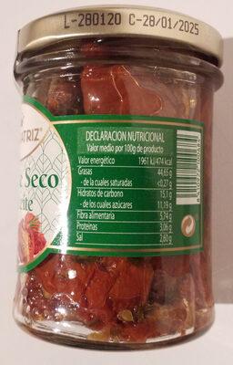Tomate seco en aceite - Información nutricional - es