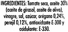Tomate seco en aceite - Ingredients