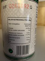 Champiñones enteros - Nutrition facts