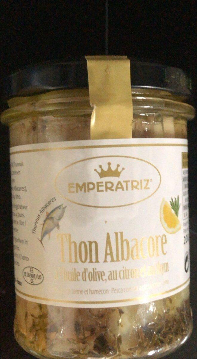 thon a l'huile d'olive au citron au thym - Produit - fr
