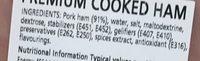 Premium Cooked Ham - La Selva - 100 G - 成分 - en