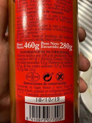 Salchichas Cocidas - Informació nutricional
