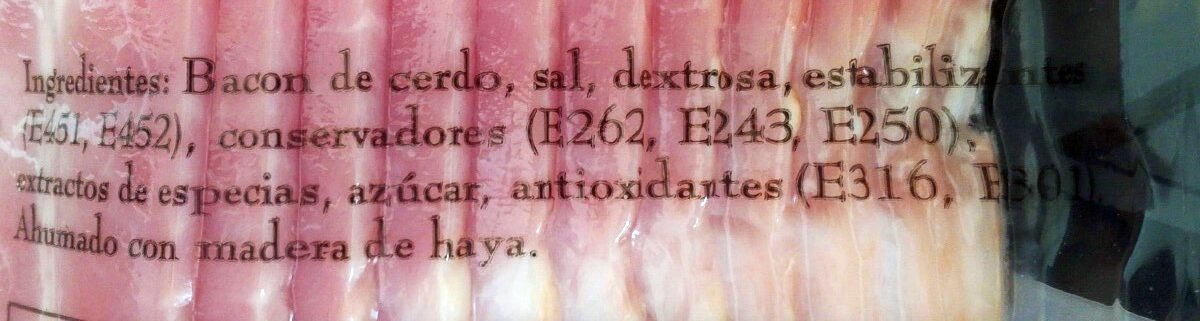 Bacon - Ingredientes - es