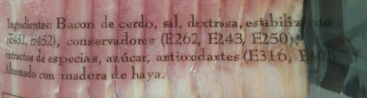 Bacon - Ingredients