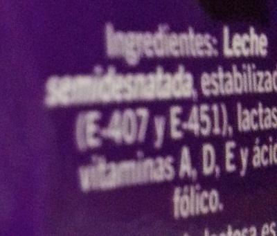 Leche sin lactosa semidesnatada - Ingredients