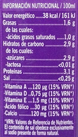 Leche sin lactosa semidesnatada - Voedigswaarden