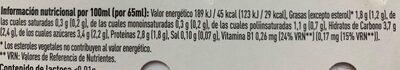 Kaikucol sabor fresa - Información nutricional - es