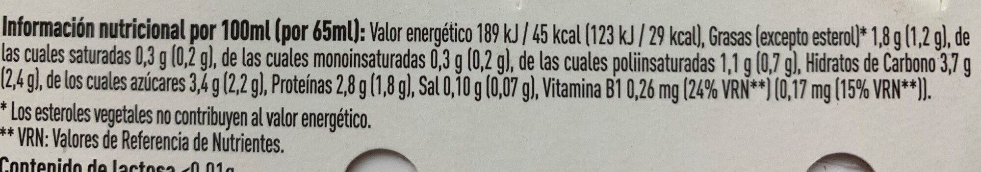 Kaikucol sabor fresa - Nutrition facts - es