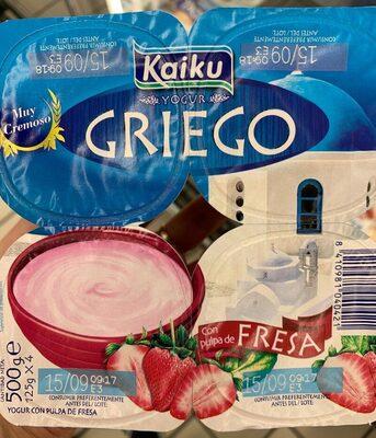 Yogur Griego con pulpa de fresa