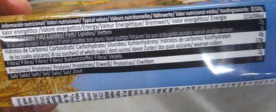 Barritas pan fibra plus - Voedingswaarden - es