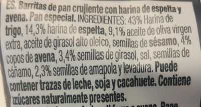 Espelta & avena - Ingredientes